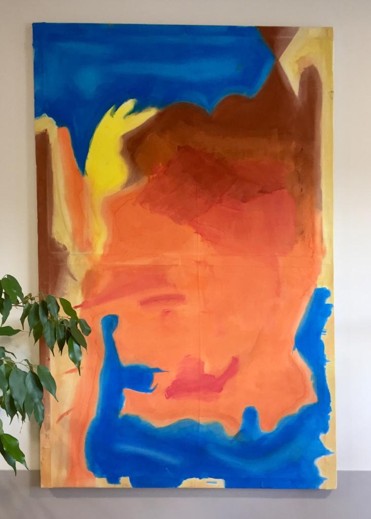 Sans titre. Œuvre en hommage à Helen Frankenthaler.
